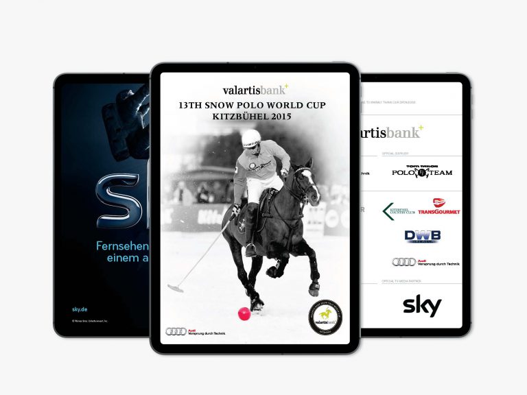 Programmheft des Snow Polo World Cup 2015