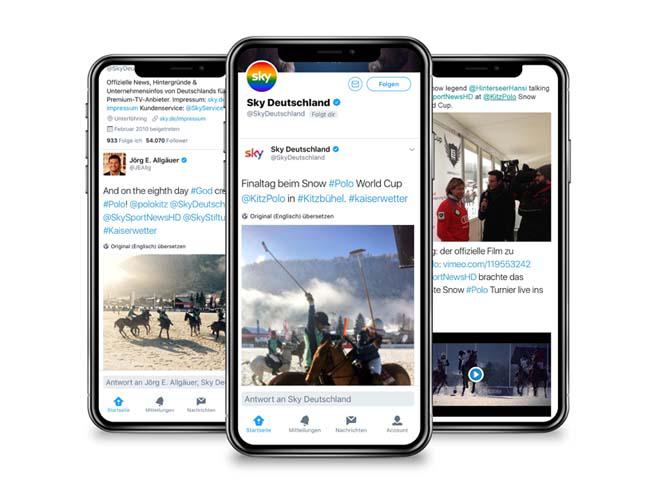 Berichterstattung auf  Social Media