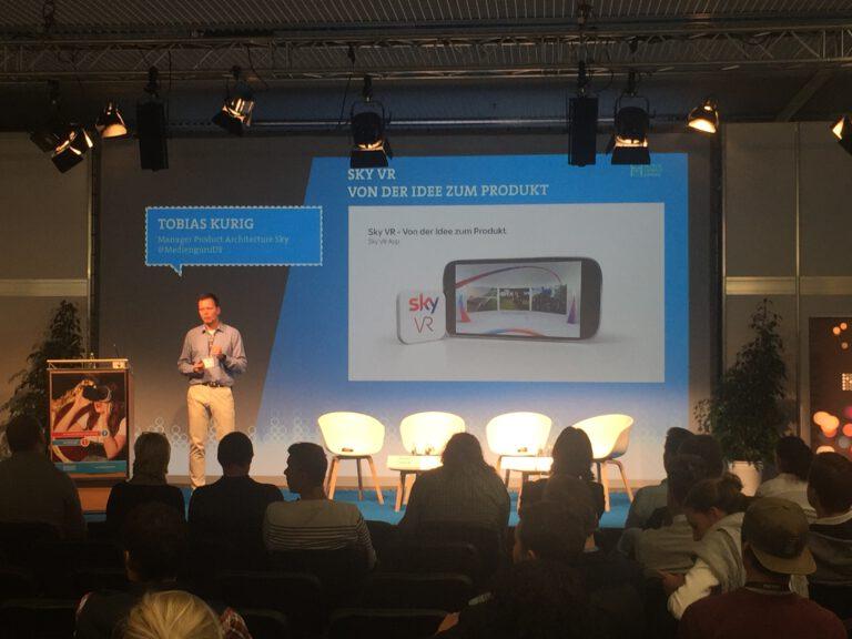 """Keynote """"Sky VR – Von der Idee zum Produkt """" von Tobias Kurig"""