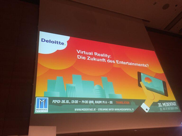 "Panel ""Virtual Reality - Die Zukunft des Entertainments?"
